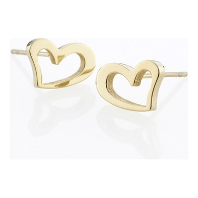 Storm náušnice Heart Earrings- Gold 9980695/GD